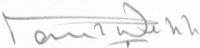 The signature of Air Commodore Paul Webb CBE DFC AE (deceased)