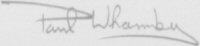 The signature of Flight Lieutenant Paul Wharmby