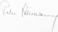 The signature of Oberleutenant Peter Düttmann (deceased)