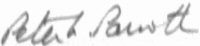 The signature of Wing Commander Peter Parrott DFC AFC (deceased)