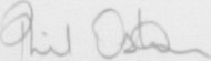 The signature of Wing Commander Phil Osborn
