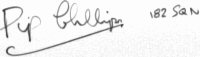 The signature of Flt/Lt L.S. Pip Phillips