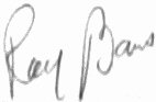 The signature of S/Sgt Raymond Baus
