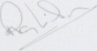 The signature of Ray Wilson