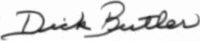 The signature of Captain J Richard Butler