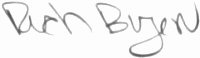 The signature of Captain Richard Buzen