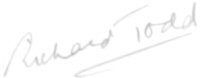 The signature of Captain Richard Todd OBE (deceased)