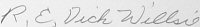 The signature of Colonel Richard Willsie
