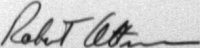 The signature of Staff Sergeant Robert E Altman