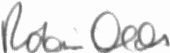 The signature of Brigadier General Robin Olds (deceased)