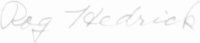 The signature of Rear Admiral Roger Hedrick (deceased)