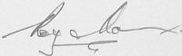 The signature of Group Captain Roy D Max (deceased)