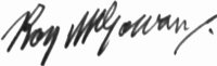 The signature of Squadron Leader Roy McGowan (deceased)