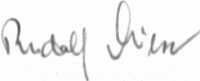 The signature of Unteroffizier Rudolf Miese (deceased)