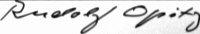 The signature of Rudolf Opitz (deceased)
