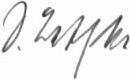 Photograph of the signature of Oberleutnant Siegfried Bethke (deceased)
