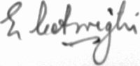 The signature of Flight Lieutenant Ted Arrighi