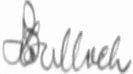 The signature of Squadron Leader Terry Bulloch DSO DFC