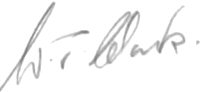 The signature of Flight Lieutenant Terry Clark