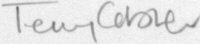 The signature of Terry Cobner