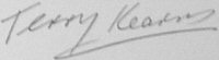 The signature of Squadron Leader T Kearns