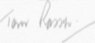 The signature of Squadron Leader T.N. Rosser OBE DFC