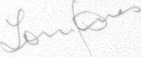 The signature of Tom E Jones (deceased)
