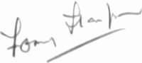 The signature of Captain Tommy Thompson DFC JP BOAC/BA (deceased)