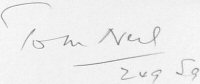 The signature of Wing Commander Tom Neil DFC* AFC