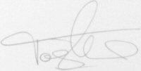 The signature of Tony Adams