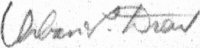The signature of Maj Urban L Drew USAF (deceased)