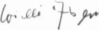 Photograph of the signature of Matrosen Obgefreiter Wilhelm Alsen