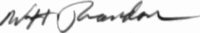 The signature of Major General William H Brandon
