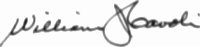 The signature of Colonel William J Cavoli (deceased)