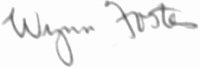 The signature of Captain Hook Wynn Foster