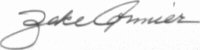 The signature of Captain Richard Zeke Cormier (deceased)