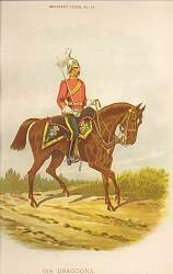 6th Dragoons by Richard Simkin.