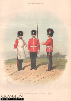 Northumberland Fusiliers by Richard Simkin (P)