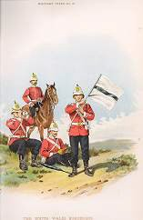 The South Wales Borderers (24th Foot) by Richard Simkin (P)