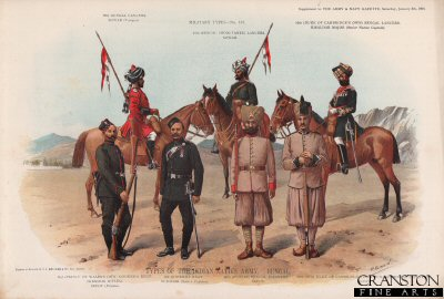 Types of the Indian Native Army, Bengal by Richard Simkin