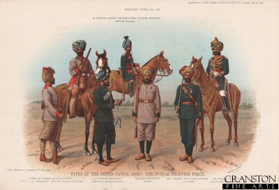 Types of the Indian Native Army, The Punjab Frontier Force by Richard Simkin