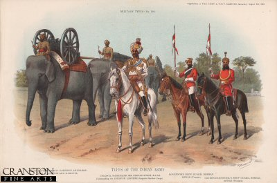 Types of the Indian Army by Richard Simkin