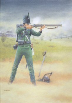 95th Rifleman, Waterloo 1815 by Stuart Liptrot.