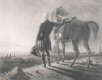 The Duke of Wellington pictured with his horse twenty years after the battle.......