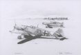 Gunther Rall in his Me109G <i>Black 13</i> about to set off with the rest of III./JG52 from a snow covered eastern front airstrip in 1943.  ......