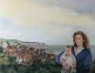 CC207. Mother and Child with seascape circa 1800s by Chris Collingwood. ......