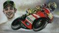 Valentino Rossi on his No.46 Ducati during the 2011 season. ......