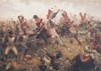 Sgt Ewart is shown taking the French standard from the 45th French Infantry Regiment. Ewart cut down two French soldiers and the standard Bearer to keep hold of the Eagle and standard, he was ordered to take it to the rear. By being ordered to the rear, this probably saved his life and also the standard for the regiment, as the rest of the regiment continued charging forward to French artillery positions, much further than they should have gone, now with very tired horses and unable to rally, the Scots Greys were attacked by Farines Brigade of Cavalry (6th and 9th Cuirassiers.) and later by the 4th Lancers, very few managed to return to the British Lines.