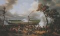 The campaign of Leipzig forced Napoleon to retire to the west of the Rhine, in the course of which he defeated a force of Germans at Hanau near Frankfurt on 30th October 1813.