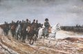Showing Napoleon and his Generals, often referred to as the Retreat From Moscow. ......